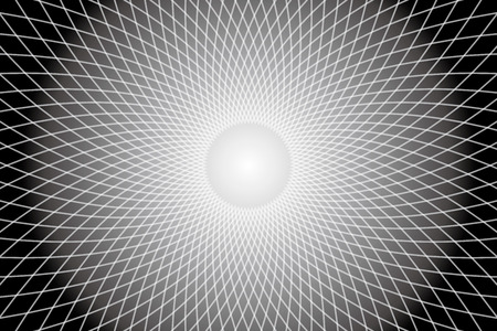 Background, material, wallpaper, pattern, radiation, radial, curve, waves, ripples, radio waves, electromagnetic waves, space, four dimensional, different dimension, different space, warp, warp zone  イラスト・ベクター素材