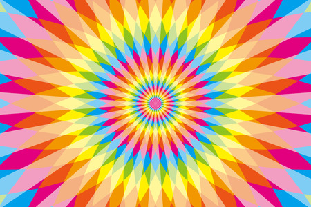 exciting: Background, material, wallpaper, rainbow colors, seven colors, colorful, Latin style, ethnic pattern, diamond, radial, Mexican, psychedelic