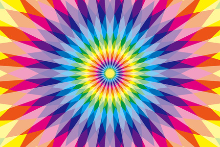 sns: Background, material, wallpaper, rainbow colors, seven colors, colorful, Latin style, ethnic pattern, diamond, radial, Mexican, psychedelic