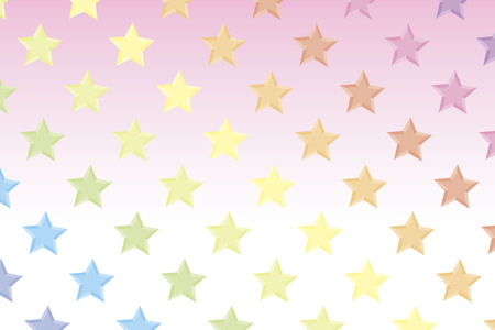 Background material wallpaper, rainbow, seven colors, rainbow colors, colorful, star, stars, star pattern, stardust, galaxies, nebulae, sky, blue sky, Milky Way, pattern Ilustração