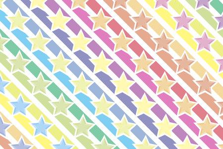 Achtergrondmateriaal behang, regenboog, regenboog kleuren, zeven kleuren, kleurrijk, ster, sterren, ster patroon, stardust, sterrenstelsels, nevels, Milky Way, patroon Stock Illustratie