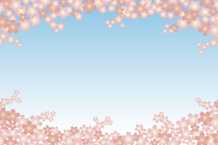 Background wallpaper material, background, pattern, patterns, cherry, cherry blossom, spring, cherry blossoms, petals, flowers, graduation, graduation ceremony, entrance, entrance ceremony Vector