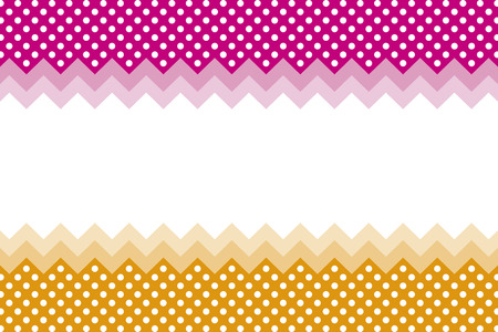 Background wallpaper material, polka dots, zig-zag, margin, price card, price tag, name card, copy space, text space, character space Vector