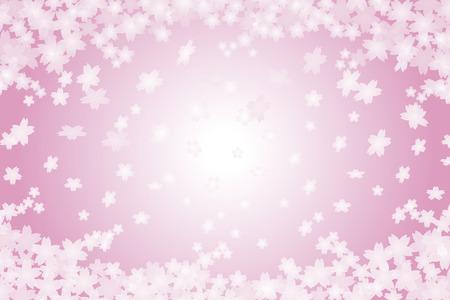 Achtergrondmateriaal behang, kers, kersenbloesem, de lente, bloemblaadje, kersen kleur, afstuderen, diploma-uitreiking, entree, ceremonie, Japanse stijl, traditie, Japans papier, Stock Illustratie
