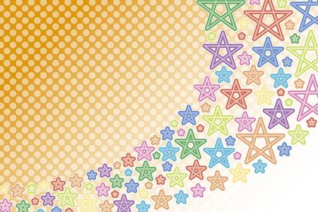 背景素材壁紙、流れ星、星、星、スターダスト、夜空、天の川、虹、虹の色、七色、カラフルなパステル カラー、水玉