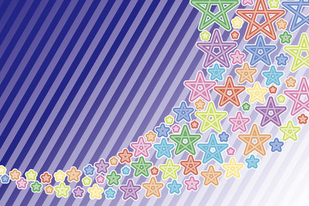 rainbow sky: Background material wallpaper, shooting star, star, stars, stardust, night sky, Milky Way, rainbow, rainbow colors, seven colors, colorful, pastel colors, stripes,