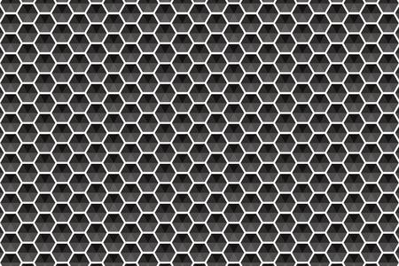 Allen m. stone tile Hexagon hexagonal honeycomb block net net of mesh stitch net network