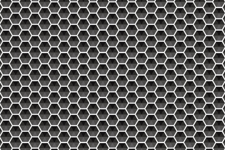 Allen m. stone tile Hexagon hexagonal honeycomb block net net of mesh stitch net network