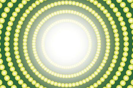 Radial circle polka dots Pastelcolored illumination neon light shine entertainment Vector