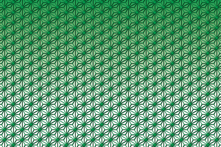 abstract green background: Wallpaper background material, hemp, asano, pattern, patterns, Crest, washi, Oriental, Japanese, Japan style, of Japan, tradition, m., chiyogami