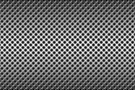 perforated: Wallpaper background material, Polka, mizutama, pocked it, point we spotted, dimple, dither, perforated metal Illustration