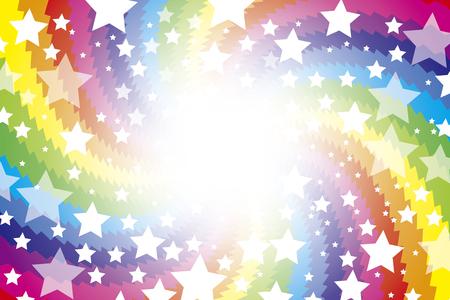 Achtergrond materiaal behang, Regenboog, Regenboog, kleurrijk, wervelende, Uzumaki, licht, helder, Star, Stardust, Galaxy, sterren Stockfoto - 45207786