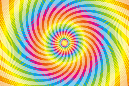 spiraling: Wallpaper materials, Latin, psychedelic, rainbow-colored, rainbow color, colors, colorful, whirlwind, swirling, spiraling Illustration