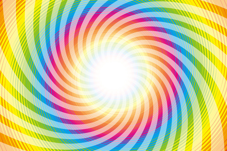 psych: Wallpaper materials, Latin, psychedelic, rainbow-colored, rainbow color, colors, colorful, whirlwind, swirling, spiraling Illustration