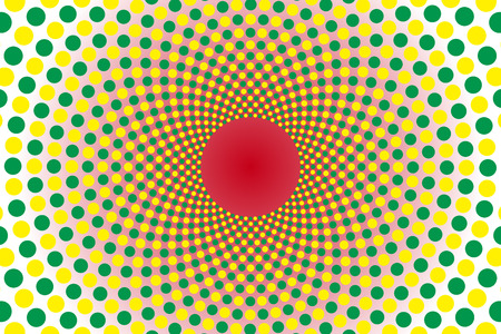 speck: Wallpaper materials, Polka, mizutama pattern, pocked it, point, round, rounded, circle, circle, radiation, rotating, Psych Illustration