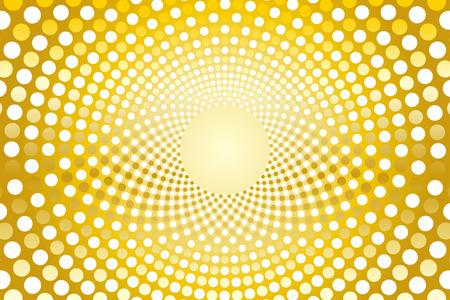 psych: Wallpaper materials, Polka, mizutama pattern, pocked it, point, round, rounded, circle, circle, radiation, rotating, Psych Illustration