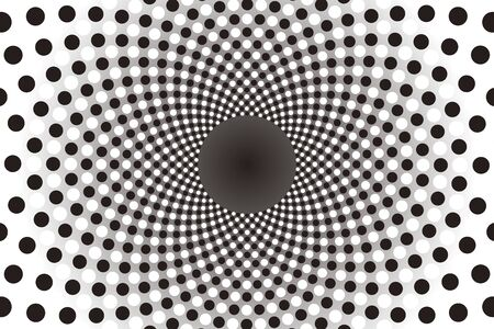 it: Wallpaper materials, Polka, mizutama pattern, pocked it, point, round, rounded, circle, circle, radiation, rotating, Psych Illustration