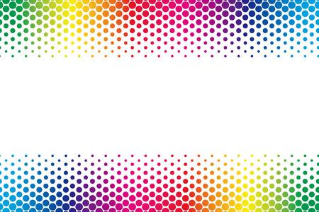 Wallpaper materials, Polka, mizutama pattern, pocked it, dither, margins, frame, letter copy space Vector Illustration