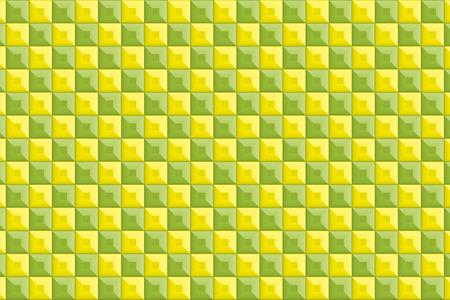 sheen: Background material wallpaper, tiles, blocks, bricks, square, four square, square, square, solid structures, 3D, CG, pottery Illustration