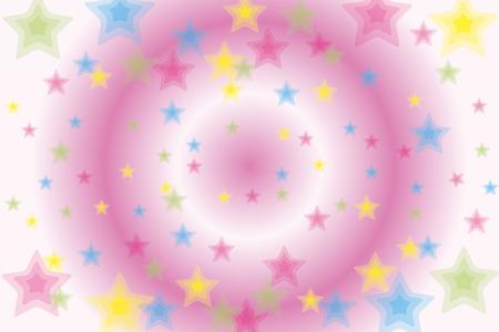 模様付きの壁紙素材、星、銀河、スターダスト、スターダスト、きらめく、きらびやかな、かわいい、軽い、カラフルです、  イラスト・ベクター素材