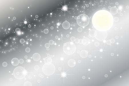 壁紙素材、スターダスト、スターダスト、銀河、星雲、夜、空、天の川、銀河、キラキラ、宇宙、月、謎 写真素材 - 46853513