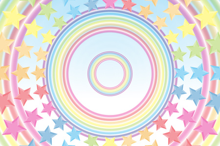 standby: Background material wallpaper, Rainbow, Rainbow, Stardust, Stardust, 7 colors, colorful, cute, ring, round circle, ring