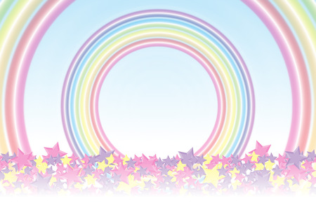 giveaway: Background material wallpaper, Rainbow, Rainbow, Stardust, Stardust, 7 colors, colorful, cute, ring, round circle, ring
