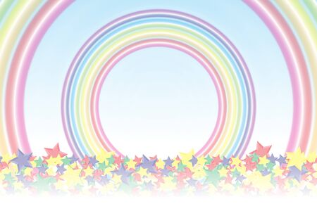 stardust: Background material wallpaper, Rainbow, Rainbow, Stardust, Stardust, 7 colors, colorful, cute, ring, round circle, ring