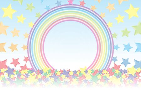 rainbow colors: Background material wallpaper, Rainbow, Rainbow, Stardust, Stardust, 7 colors, colorful, cute, ring, round circle, ring