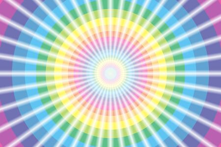 strobe light: Background material wallpaper, Rainbow, rainbow color, 7 colors, colorful, beam, laser beam, Flash, circle, ring, rings Illustration