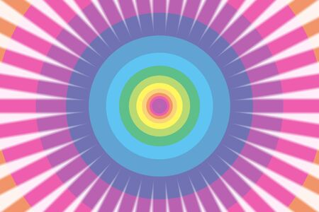 beam: Background material wallpaper, Rainbow, rainbow color, 7 colors, colorful, beam, laser beam, Flash, circle, ring, rings Illustration