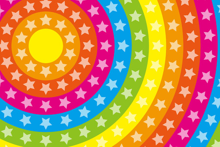 bitter orange: Wallpaper materials, Stardust, Stardust, glitter, Rainbow, Rainbow, launch Fireworks, launch, neon sign Illustration