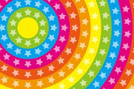 stardust: Wallpaper materials, Stardust, Stardust, glitter, Rainbow, Rainbow, launch Fireworks, launch, neon sign Illustration