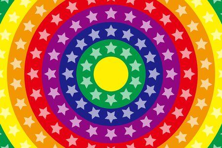 rainbow color star: Wallpaper materials, Stardust, Stardust, glitter, Rainbow, Rainbow, launch Fireworks, launch, neon sign Illustration