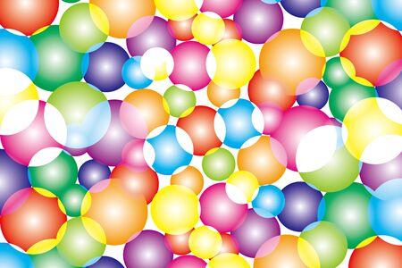 back to the future: Wallpaper material, Iris, Rainbow, rainbow color, 7 color, colorful, circle, sphere, fantasy, dreams, fantasy, Rainbow, Illustration