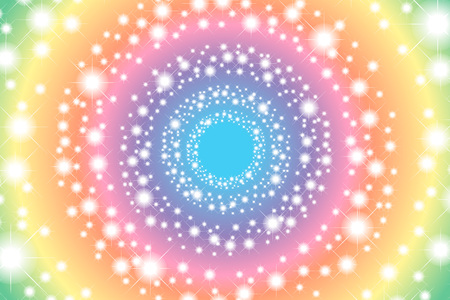 rainbow colors: Background wallpaper material, Rainbow, rainbow color, 7 colors, colorful, Stardust, star pattern, light, sparkle, glitter, Rainbow Illustration
