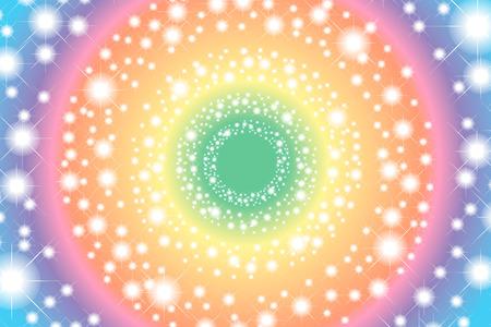 rainbow color star: Background wallpaper material, Rainbow, rainbow color, 7 colors, colorful, Stardust, star pattern, light, sparkle, glitter, Rainbow Illustration