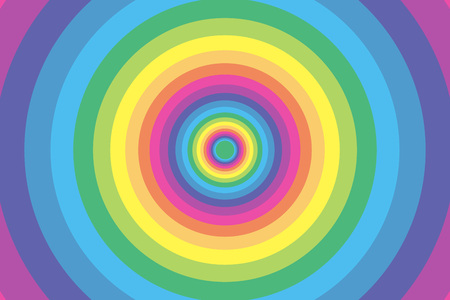 Background wallpaper material, Rainbow, rainbow color, colors, colorful, Yen, wheel, circle, ring, ring, bright, fun
