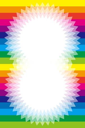 rainbow color star: Background material wallpaper, Rainbow, rainbow color, 7 colors, colorful, striped, stripes, border, frame, Star, Star, Illustration