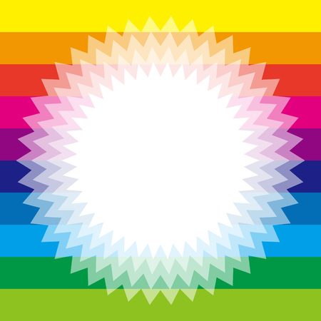hilt: Background material wallpaper, Rainbow, rainbow color, 7 colors, colorful, striped, stripes, border, frame, Star, Star, Illustration