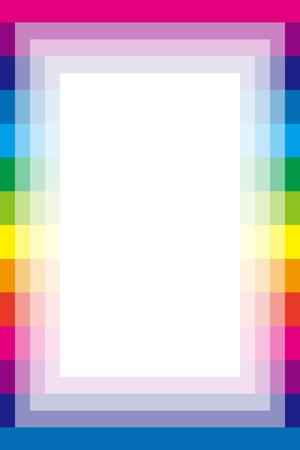 背景素材壁紙、虹、虹、カラフルなストライプ、ストライプ、ボーダー、フレーム、コピー領域の余白  イラスト・ベクター素材
