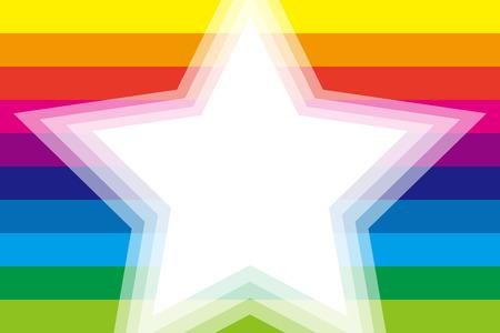 striped wallpaper: Background material wallpaper, Rainbow, rainbow color, 7 colors, colorful, striped, stripes, border, frame, Star, Star, Illustration