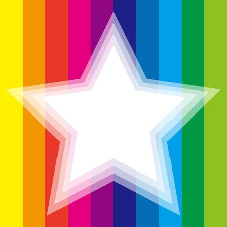 banded: Background material wallpaper, Rainbow, rainbow color, 7 colors, colorful, stripes, stripes, stripes people, frame, frames, margins, Illustration