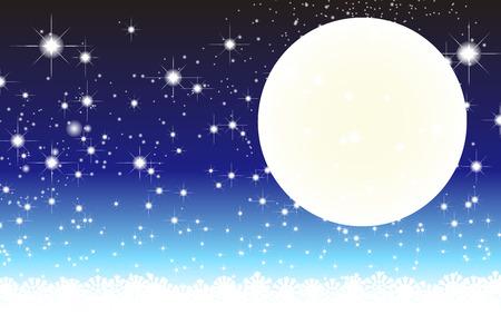 stardust: Wallpaper materials, full moon, Stardust, Stardust, Galaxy, stars, milky way, moon, sky, sparkling, space, Moonlight, Moonlight Illustration