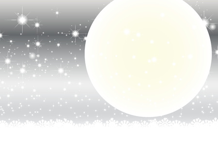 silvery: Wallpaper materials, full moon, Stardust, Stardust, Galaxy, stars, milky way, moon, sky, sparkling, space, Moonlight, Moonlight Illustration