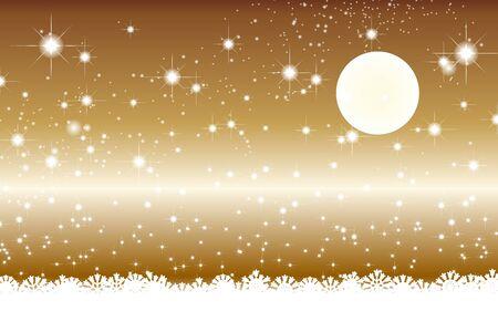 Wallpaper materials, full moon, Stardust, Stardust, Galaxy, stars, milky way, moon, sky, sparkling, space, Moonlight, Moonlight Illustration