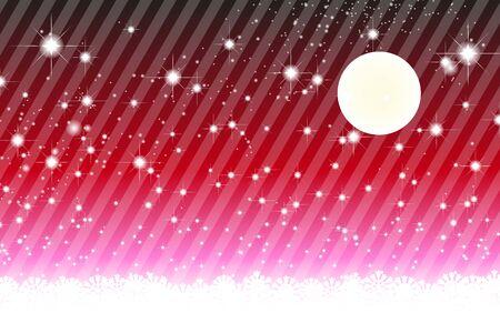 Background material wallpaper, Stardust, Stardust, Galactic, moon, sky, milky way, night view, glitter, stripes, striped, Stock Illustratie