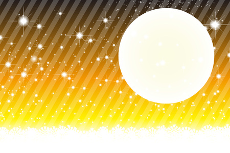 yellow banded: Background material wallpaper, Stardust, Stardust, Galactic, moon, sky, milky way, night view, glitter, stripes, striped, Illustration