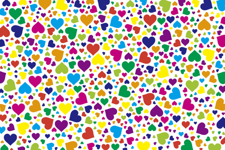 Background material wallpaper, hearts, Rainbow, Rainbow, colorful, Valentine's day, love, love, LOVE,