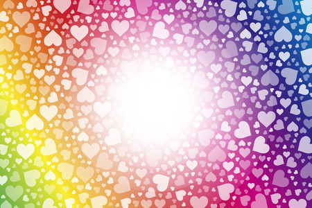 standby: Background material wallpaper, hearts, Rainbow, Rainbow, colorful, Valentines day, love, love, LOVE,
